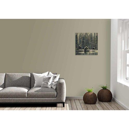 Wandkraft Gemälde Birkenholz Schweden 74x74cm