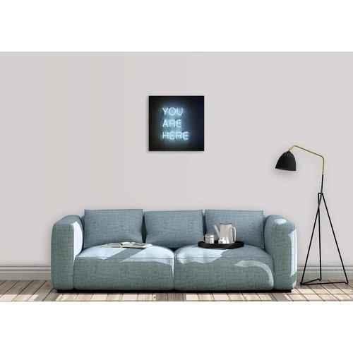 Wandkraft Schilderij glas You  74x74cm