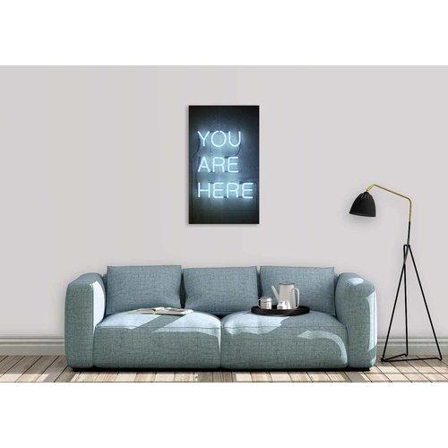 Wandkraft Schilderij glas You  118x70cm