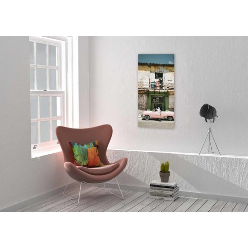 Wandkraft Schilderij dibond Roze 98x48cm