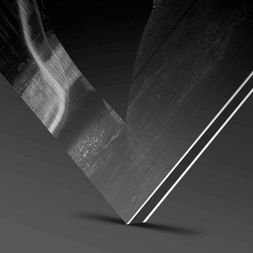Wandkraft Anstrich Dibond Edelstahl schwer 98x48cm
