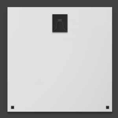 Wandkraft Lackierung von Dibond Edelstahl Bei 74x74cm