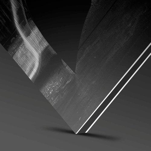 Wandkraft Bemalen von Dibond Edelstahl Federn 74x74cm