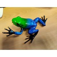Bronze Skulptur Regenwald Frosch blau