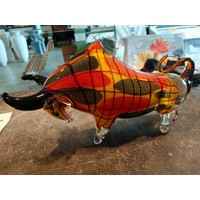 Stier aus 42cm langem Glas