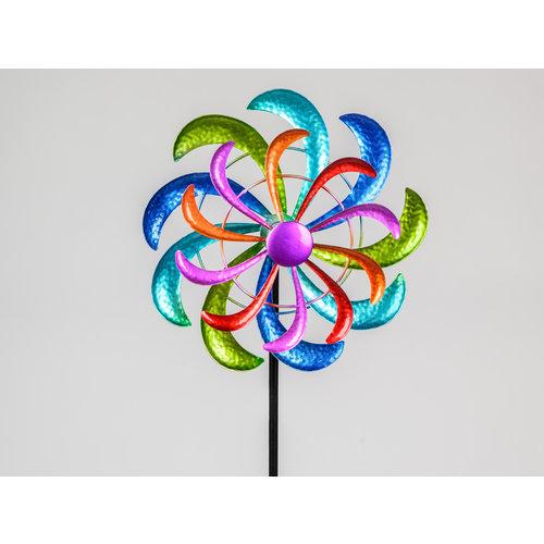 Garden plug rotary wheel