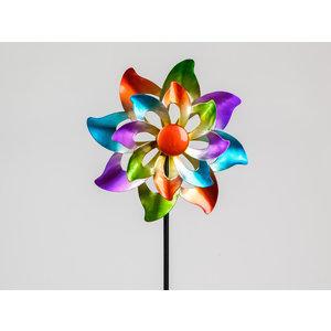 Tuinsteker multicolor flower