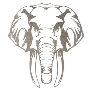 Wall deco elephant head