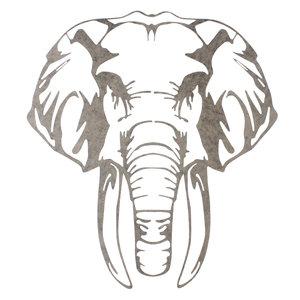 Wanddeco Olifantenkop