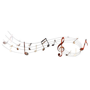 Wall decoration 3d music bar with key 120cm