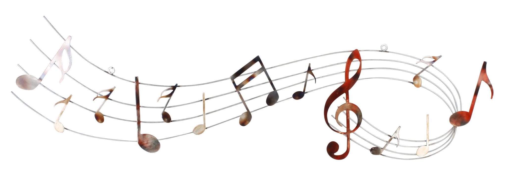 Muurdecoratie 3d muziekbalk met sleutel 120cm - Eliassen - Eliassen Home &  Garden Pleasure