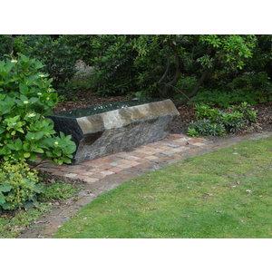 Stenen tuinbank massief basalt Bjorn
