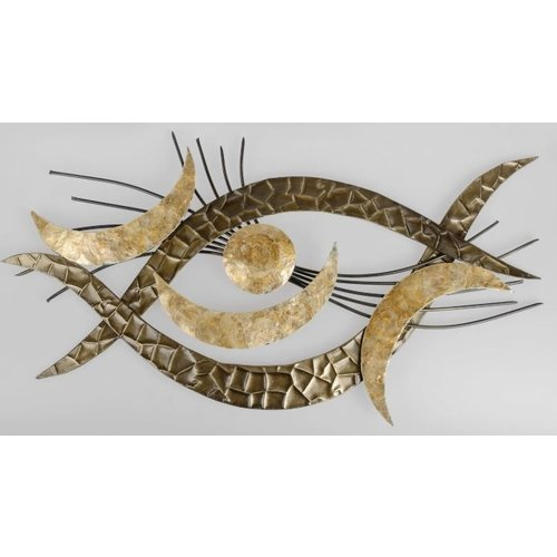 Wanddeko Auge Gold
