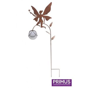 Metal garden plug fairy 2 with LED lamp