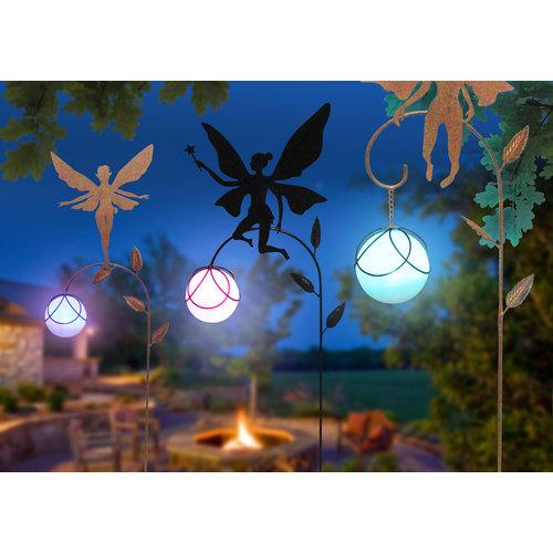 Metal garden plug fairy 2 with LED lamp