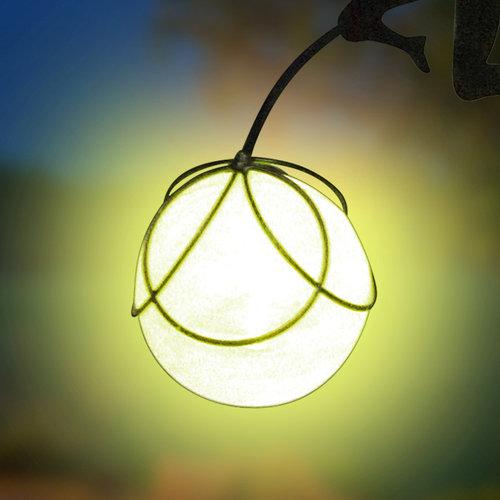 Metall Gartenstecker Fee 2 mit LED Lampe