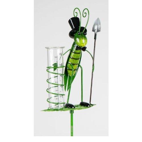 Rain gauge grasshopper scoop