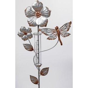 Libelle mit Regenmesser
