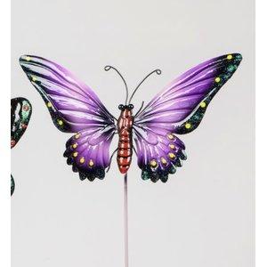 Gartenstecker lila Schmetterling