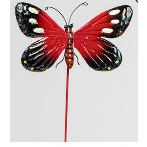 Gartenstecker roter Schmetterling