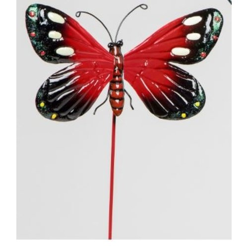 Garden plug red butterfly