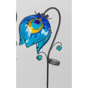 Garden plug hanging flower 2 blue with LED lamp