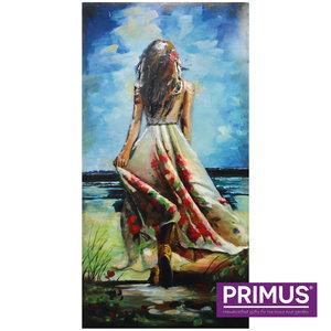 Schilderij 3d art Vrouw op de rug gezien. 60x120cm