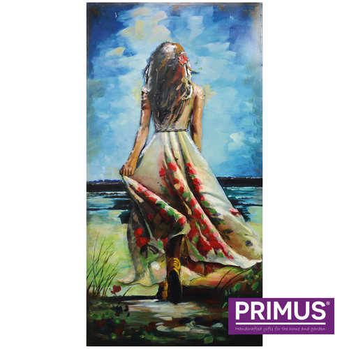 Painting 3d art Woman seen from the back. 60x120cm