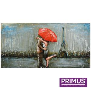 Painting metal Night in Paris 140x70cm
