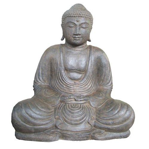 Eliassen Boeddha beeld Japans in lotus zit 80cm