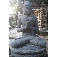 Gruß Buddha Statue auf Lotus in 6 Größen