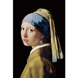 Glass print girl with a pearl earring