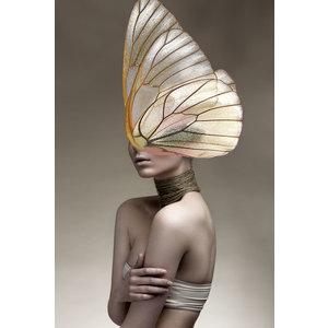 Glasschilderij Vleugel gezicht