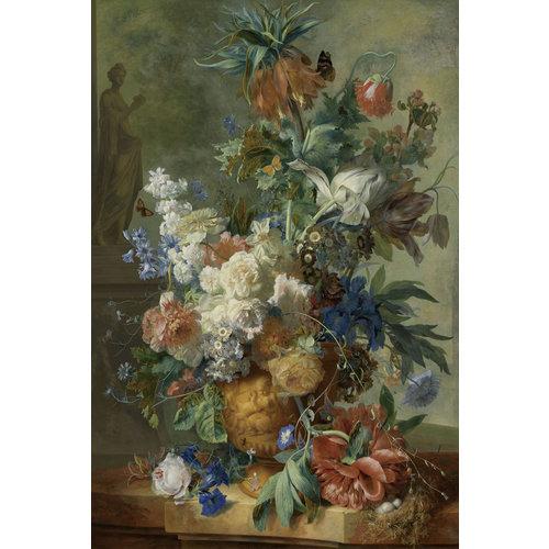 Glasschilderij Flowers