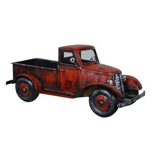 Miniatuur model vrachtauto rood