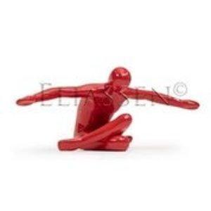 Fliegender Mann rot Hochglanz