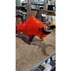 Glasobject Stier rood groot