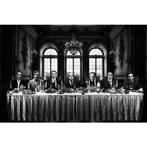 Dibond Gangster letztes Abendessen 100x150 cm