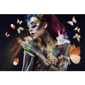 Glasmalerei 110x160 cm. Schmetterlingsfrau 2