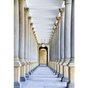 Glasmalerei 110x160 cm. Säulenkorridor