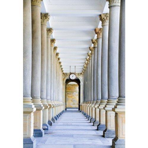 Glass painting 110x160 cm. Pillar corridor
