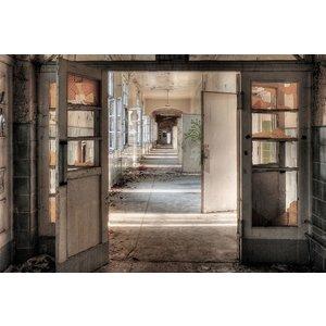 Glasschilderij 110x160 cm. Open doors