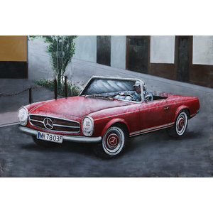 Painting 3d Mercedes convertible
