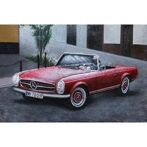Schilderij 3d Mercedes cabrio