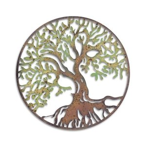 Wanddecoratie Tree of Life coloured