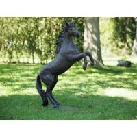Beeld brons 100cm steigerend paard