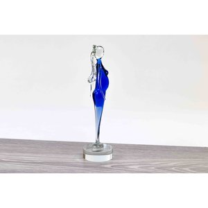 Expected glass figurine 22x6 cm.