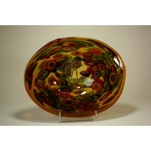 Glass bowl brown