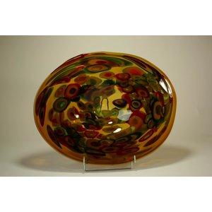 Glasschaal bruin