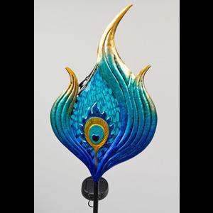 Tuinsteker blauw figuur golf met solar